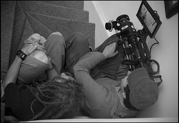 Luke Massey with camera.