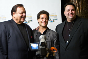 Bill Sorvino - President and Founder of the GOLDEN DOOR INTERNATIONAL FILM FESTIVAL OF JERSEY CITY - is flanked by his Uncle, legendary actor Paul Sorvino (L) and Award-Winning Writer-Director/Producer Sam Borowski (R) with whom he has collaborated no fewer than 4 times.