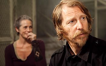 Melissa McBrider & Lew Temple in The Walking Dead