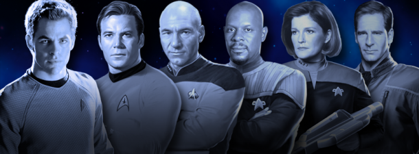 """Captains of the """"Star Trek"""" franchise."""