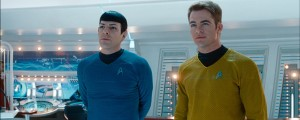 """Star Trek Into Darkness"", James T. Kirk and Spock."