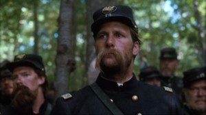 "Jeff Daniels as Colonel Joshua Chamberlain during the Battle of Little Round Top in ""Gettysburg""."