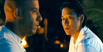 Vin Diesel and Sung Kang