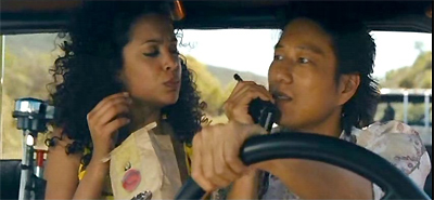 Mirtha Michelle and Sung Kang in Fast and Furious