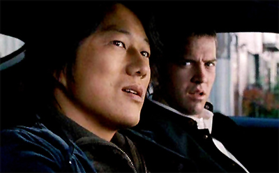 Lucas Black and Sung Kang in The Fast and the Furious: Tokyo Drift